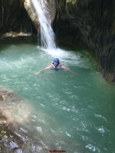 Swimming Below The Falls
